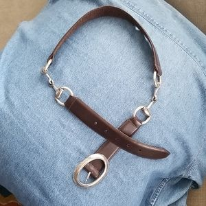 Brighton Brown Leather Belt Size Large